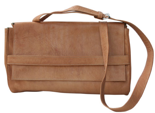 33870cd1859 Fairtrade lederen 'messenger' tas | FairlyDressy