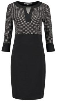 jurk zwart wit-stip