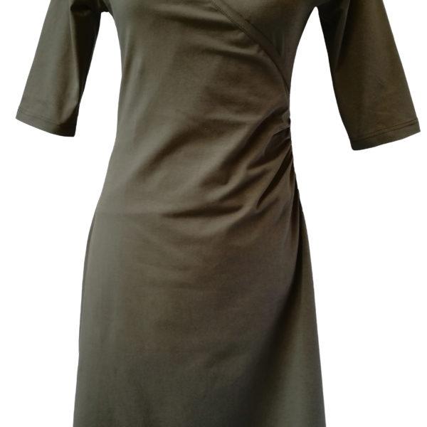 38ce1d2be13df6 Overslag jurk  olive