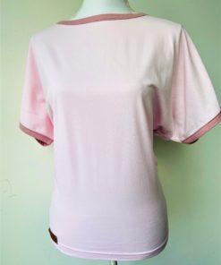 shirt bio katoen licht roze