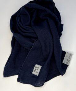 donkerblauwe sjaal biologisch katoen