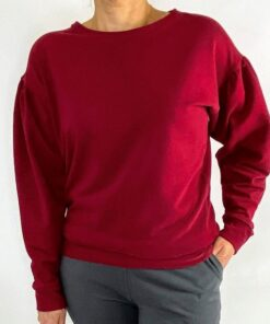 bordeaux sweater rimpelmouwen