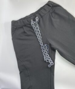 sweat broek decoratief koord