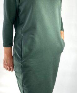 sweat jurk donkergroen